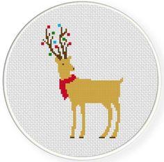 Festive Deer Cross Stitch Pattern | Craftsy