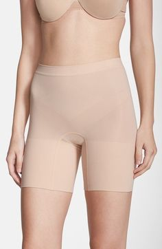 SPANX® 'Power - Short' Mid Thigh Shaper (Regular & Plus Size) (3 for $63) available at #Nordstrom