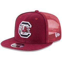 605336a3abc Men s New Era Garnet South Carolina Gamecocks Trucker Worn 9FIFTY  Adjustable Hat