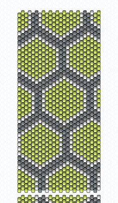 Chartreuse Honeycomb Peyote Bracelet - Loom Pattern 2