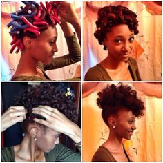 Flexi rod pinup. Natural hairstyle. Curls