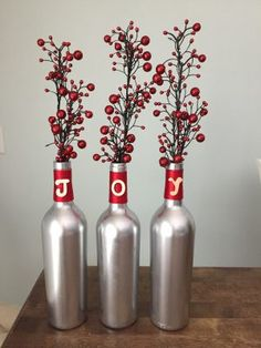 DIY Wine Bottle Christmas Craft Tutorial