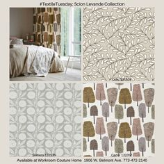 New Levande Collection from Scion Fabrics. Available at Workroom Couture Home.
