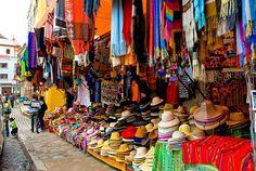 A traditional Cloth Shop at a market of Copacaban