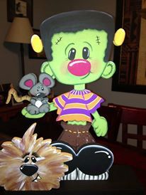 Frankenstien Jr and friends por Gourdsandgifts en Etsy