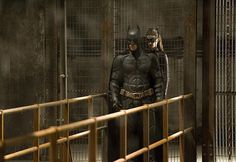 """Is Batman (Christian Bale) saving Catwoman (Anne Hathaway) from Bane (Tom Hardy)?  Or is something more nefarious going on in """"The Dark Knight Rises."""""""