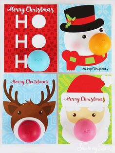 EOS Lip Balm Christmas Gifts! Simply print the free card and attach to your EOS for an easy teacher, coworker, or stocking stuffer idea