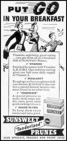 SUNSWEET PRUNES WOMAN'S DAY 03/01/1948 p. 100