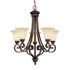 Dream Lighting Dining Room Millennium Oxford 5 Light Rubbed Bronze Chandelier Ceiling Lights