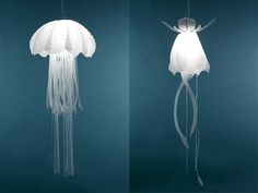 Mylar Lamps Mimic Freshwater Jellyfish  http://www.thisiscolossal.com/2013/10/jellyfish-lamps