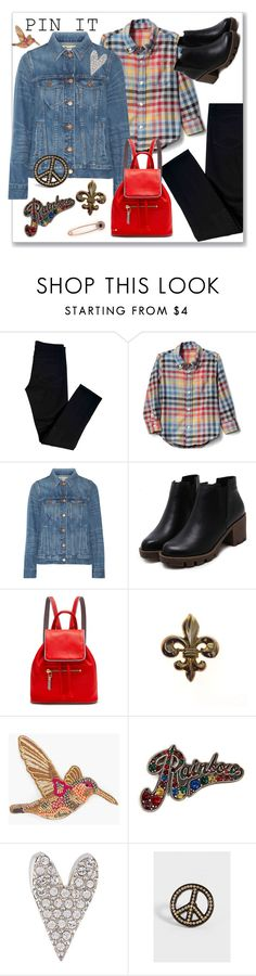 """Pins Are Personal"" by ahapplet ❤ liked on Polyvore featuring J Brand, Gap, Madewell, Rose Hovord, Chico's, Marc Jacobs, Sonia Rykiel, maurices, pins and ahapplet"