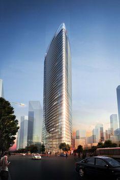 Blue Sky Building Project in Chengdu, China by KSP Juergen Engel Architekten