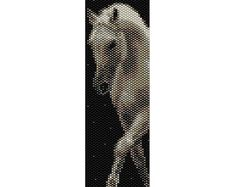 Brown Horse 3 Peyote Bead Pattern, Bracelet Cuff, Bookmark, Seed Beading Pattern…