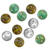 CZECH GLASS CzechMates Two Hole Beads | Eureka Crystal Beads