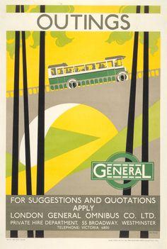 London Transport poster 1928,Bip Pares