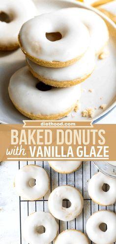 Easy Donut Recipe, Donut Recipes, Baking Recipes, Fun Desserts, Delicious Desserts, Dessert Recipes, Brunch Recipes, Breakfast Recipes, Recipes Using Fruit