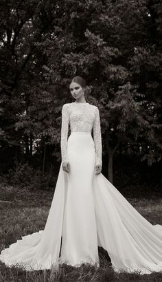 Berta Bridal Winter 2014 Wedding Dress with Long Sleeves - Deer Pearl Flowers / http://www.deerpearlflowers.com/wedding-dress-inspiration/berta-bridal-winter-2014-wedding-dress-with-long-sleeves/