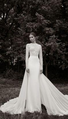 Berta Bridal Winter 2014 Wedding Dress with Long Sleeves - Deer Pearl Flowers…
