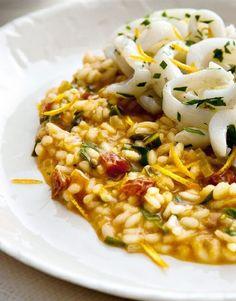 risotto di mare ai pomodori secchi / seafood risotto with dried tomatoes