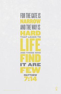 Scripture Posters by charles peters, via Behance