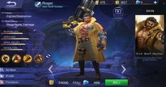 Set Build Item Emblem, Ability, Gear Roger Terbaik, mematikan,  savage,  pentakill, full damage, terkuat, cara menggunakan hero roger,  mobile legends.
