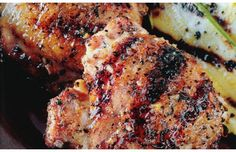 Herbed Chicken Thighs with Honey Lemon Glaze! Wow - this recipe is fantastic!! I Used boneless, skinless thighs and 2 boneless, skinless breasts. BBQ on Medium. Perfection!