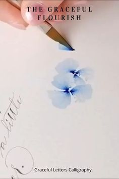 The Graceful flourish for girls videos crafts crafts crafts Watercolor Flowers Tutorial, Watercolour Tutorials, Watercolor Flower Painting, Watercolor Illustration Tutorial, Watercolour Pencil Art, Abstract Watercolor Tutorial, Simple Watercolor Flowers, Simple Flower Drawing, Step By Step Watercolor
