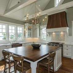 More ideas below: Rustic Large Kitchen Layout Design Farmhouse Large Kitchen Window Luxury Large Kitchen Island and Rug Modern Large Kitchen Decor Ideas Large Kitchen Floor Plans Remodel Kitchen Island Table, Kitchen Dining, Kitchen Decor, Square Island Kitchen, Kitchen Ideas, Dining Table, Custom Kitchen Cabinets, Kitchen Cabinet Design, White Cabinets