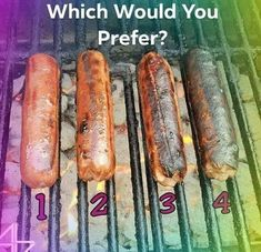 Post Your answer and pin. #Food #Hotdog #Burnt #Cooked #Grill #Buns #Meat #Choice #Prefer