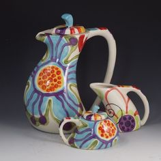 Hey, I found this really awesome Etsy listing at http://www.etsy.com/listing/93670334/tea-set-jubilation-funky-tea-set