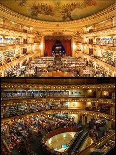 Önce tiyatro olarak inşa edilen daha sonra sinema olarak kullanılan bu muhteşem yapı şimdilerde Arjantin'in en harika kitapçısı.     Karşınızda Librería El Ateneo Grand Splendid.    http://www.kitapika.com