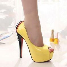 Fancy high heels shoes