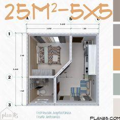 Small Apartment Plans, Studio Apartment Floor Plans, Small Apartment Design, Apartment Layout, Small House Design, Small Apartments, Tiny House Layout, House Layout Plans, Tiny House Cabin