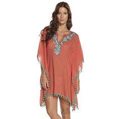 DAMASCO - ondademar.com• embroidery poncho, cotton voile • contrast embroidery and pompoms color • relaxed fit  https://ondademar.com/catalog/product/damasco-2/