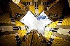 11. Cubic Houses (Kubus Woningen) (Rotterdam, Netherlands) - Top 13 World's Strangest Buildings