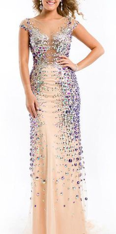 Rachel Allan Prom Dress 6440 Nude/Turquoise - would make a better evening gown for someone older.. a bit revealing for a young woman to wear to the prom in my opiniin.. would they even let one in with that on??