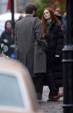 Richard Rankin (Roger Mackenzie) and Sophie Skelton (Brianna Randall) have returned to filming season three of Outlander.