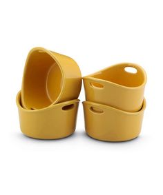 Take a look at this Yellow Bubble & Brown Ramekin - Set of Four  by Rachael Ray on #zulily today!
