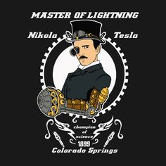 Nikola+Tesla+Steampunk design on