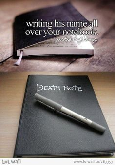 OHMYGOD.... Is it bad that there are actual people who I would get this notebook and watch their faces as I wrote their names down?