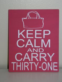 31 Bag Wall Decor by Kreationsbykellyr on Etsy  How adorbs is this really? Keep Calm - Thirty-One has your organizational needs covered!!