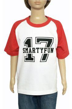 "Camiseta Baseball ""17"". Smartyfun #baseball #kids #tshirt"