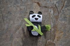 Panda hair bow