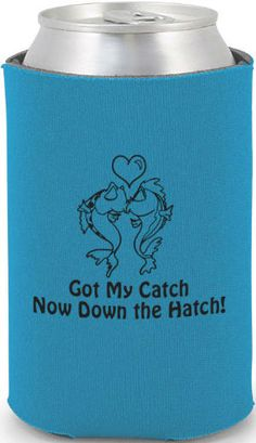Wedding Can Coolers -6580 #koozies #fish