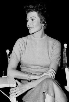 Rita Hayworth on the set.