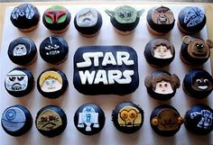 This is a large gallery of Star Wars cupcakes. Also there might be a cake or two in there, I can't remember. And not just because I spent all the time. Star Wars Cupcakes, Star Wars Cookies, Fun Cupcakes, Cupcake Cakes, Cup Cakes, Galaxy Cupcakes, Decorated Cupcakes, Themed Cupcakes, Cupcake Ideas
