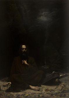 """Lucjan Wędrychowski """"Kuszenie św. Antoniego"""" (1886), Muzeum Narodowe w Krakowie - Sukiennice"""