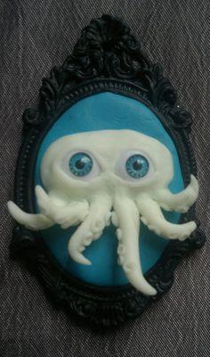 Cute Octopus GlowintheDark Tentacle pendant by HysteriaMachine, £10.00