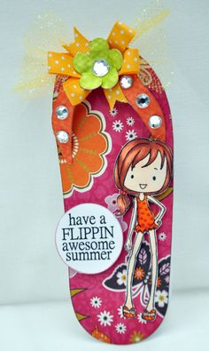 Write on flip flop background for thank you cards