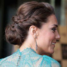 hair pinned braid low do duchess of cambridge kate middleton